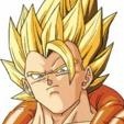 Gogeta avatar du personnage de Dragon Ball